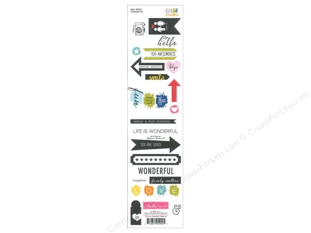 Bella Blvd Stickers Color Chaos Trinkets (12 sets)