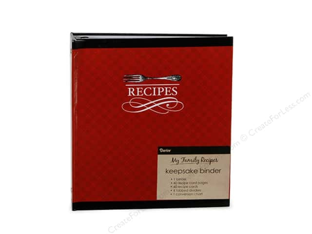 Darice Recipe Binder Cutlery Black and Red