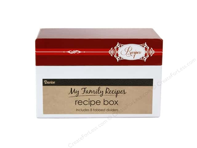 Darice Recipe Box Holiday Elegant