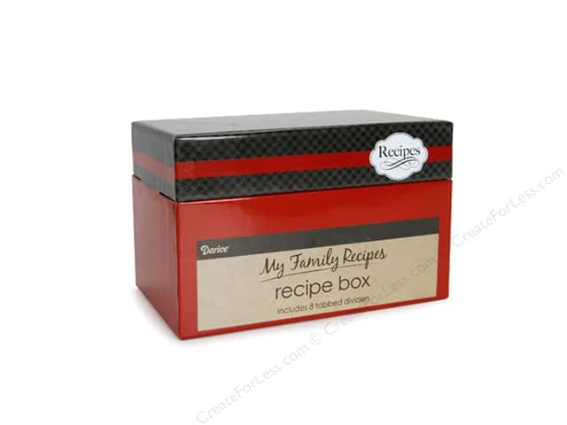 Darice My Family Recipes Recipe Card Box - Vintage Cutlery