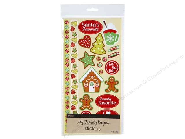 Darice Sticker Recipe Whimsical Christmas Icons