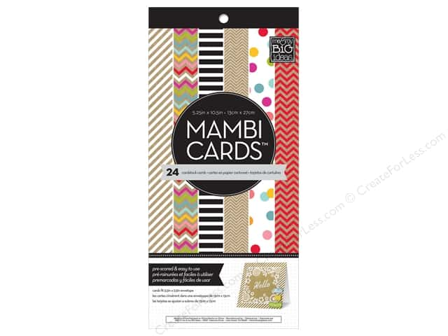 "MAMBI Cards In An Instant Card Pad 5.25""x 5.25"" Confetti & Kraft"