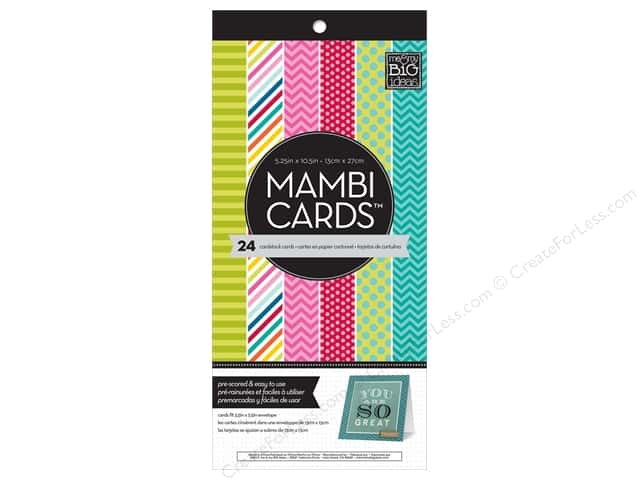 "MAMBI Cards In An Instant Card Pad 5.25""x 5.25"" Bright & Fun"