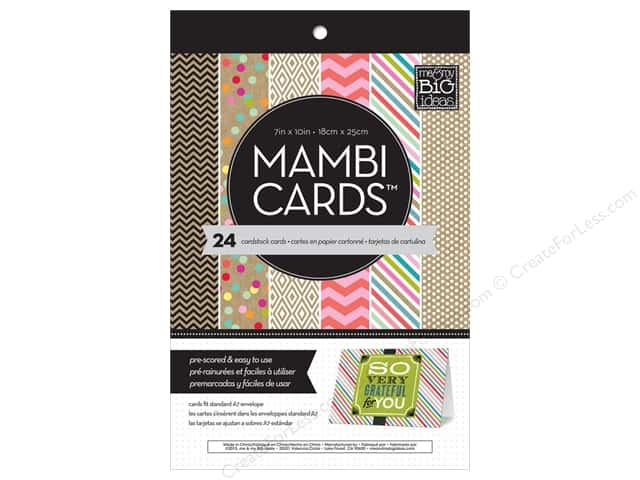 "MAMBI Cards In An Instant Card Pad 5""x 7"" Confetti & Kraft"