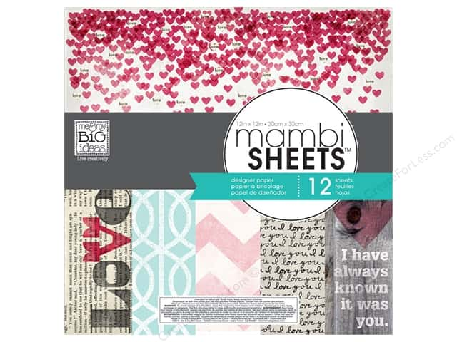 Me & My Big Ideas Sheets Cardstock Pad 12 x 12 in. Straight To The Heart