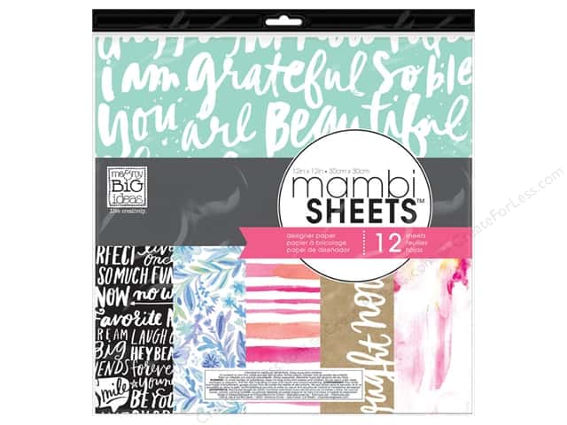 Me & My Big Ideas Sheets Cardstock Pad 12 x 12 in. Paint Palette