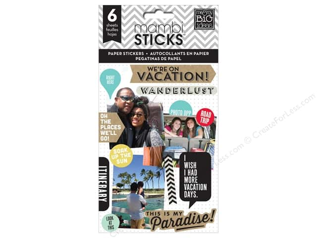 Me&My Big Ideas Sticker Sticks We Are On Vacation