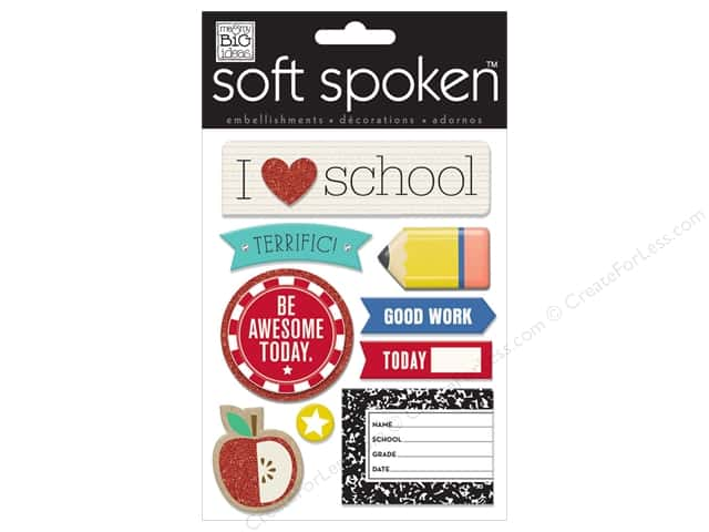 Me & My Big Ideas Soft Spoken Stickers I Heart School