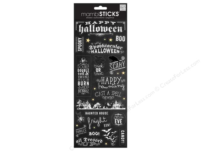 Me & My Big Ideas Sticks Chalk Stickers Happy Halloween