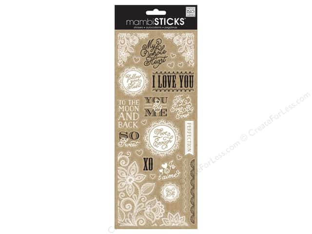 Me & My Big Ideas Sticks Stickers Lacy Love