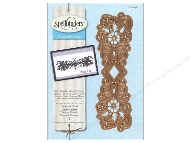 Spellbinders Shapeabilities Die Diamond Floral