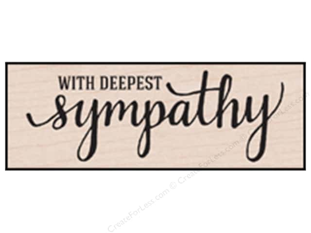 Hero Arts Rubber Stamp With Deepest Sympathy