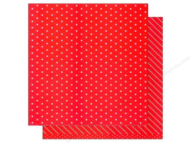American Crafts 12 x 12 in. Paper Basics Stars Red (12 sheets)