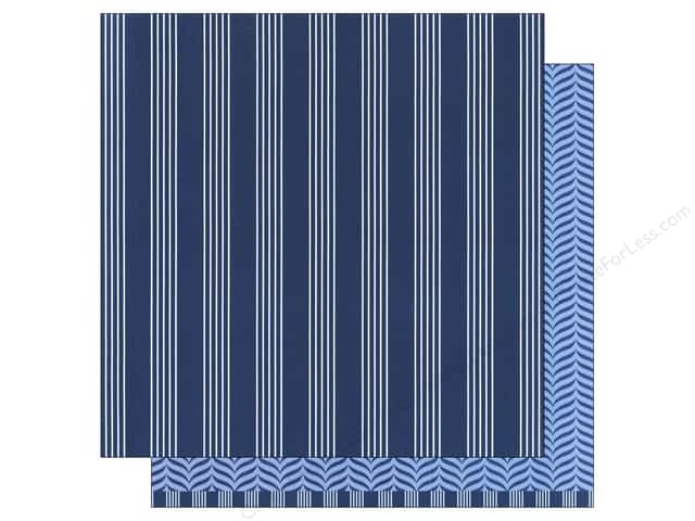 American Crafts 12 x 12 in. Paper Basics Stripes Navy (12 sheets)