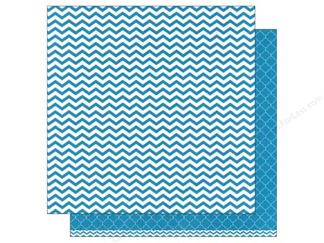 American Crafts 12 x 12 in. Paper Basics Chevron Aqua (12 sheets)
