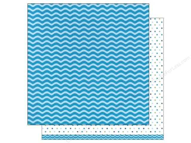 American Crafts 12 x 12 in. Paper Basics Waves Aqua (12 sheets)