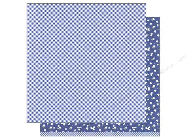 American Crafts 12 x 12 in. Paper Basics Gingham Marine (12 sheets)