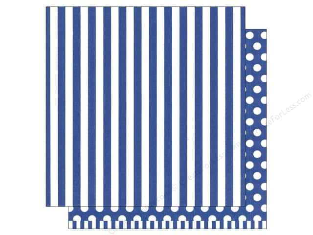 American Crafts 12 x 12 in. Paper Basics Stripe Marine (12 sheets)