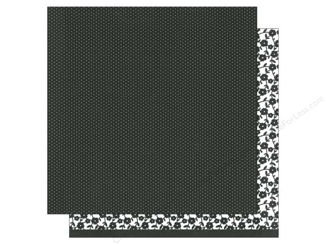 American Crafts 12 x 12 in. Paper Basics Tiny Dots Black (12 sheets)
