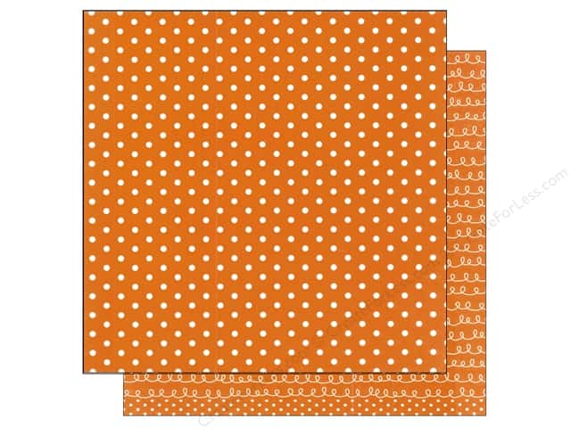 American Crafts 12 x 12 in. Paper Basics Dots Orange (12 sheets)