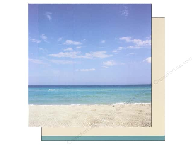 American Crafts 12 x 12 in. Paper Summer Beach (12 sheets)