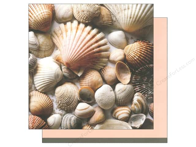 American Crafts 12 x 12 in. Paper Summer Shells (12 sheets)