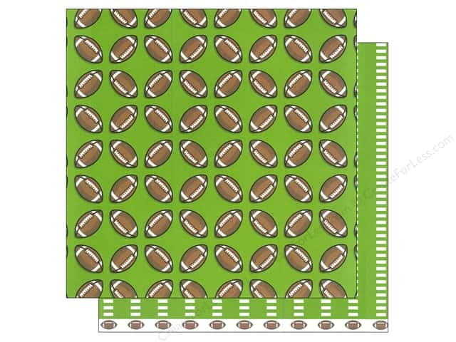 American Crafts 12 x 12 in. Paper Sports Footballs (12 sheets)