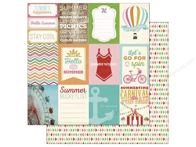 Carta Bella 12 x 12 in. Paper Soak Up The Sun Journal Cards 3 x 4 in. (25 sheets)