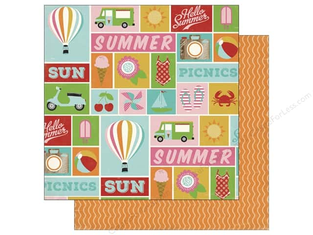 Carta Bella 12 x 12 in. Paper Soak Up The Sun Summer Icons (25 sheets)