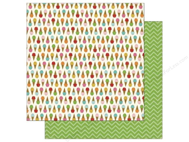 Carta Bella 12 x 12 in. Paper Soak Up The Sun Ice Cream (25 sheets)