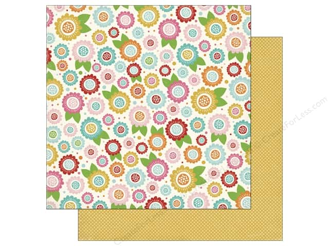 Carta Bella 12 x 12 in. Paper Soak Up The Sun Floral Bloom (25 sheets)