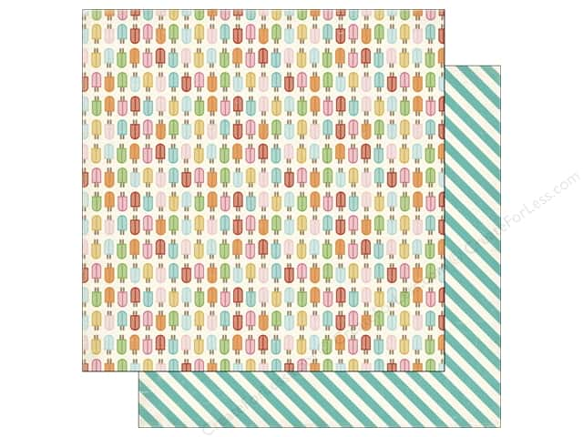 Carta Bella 12 x 12 in. Paper Soak Up The Sun Popsicles (25 sheets)