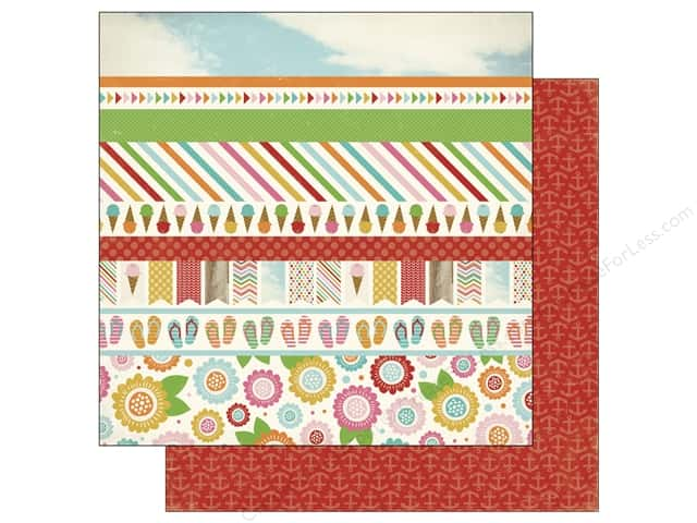 Carta Bella 12 x 12 in. Paper Soak Up The Sun Border Strip (25 sheets)