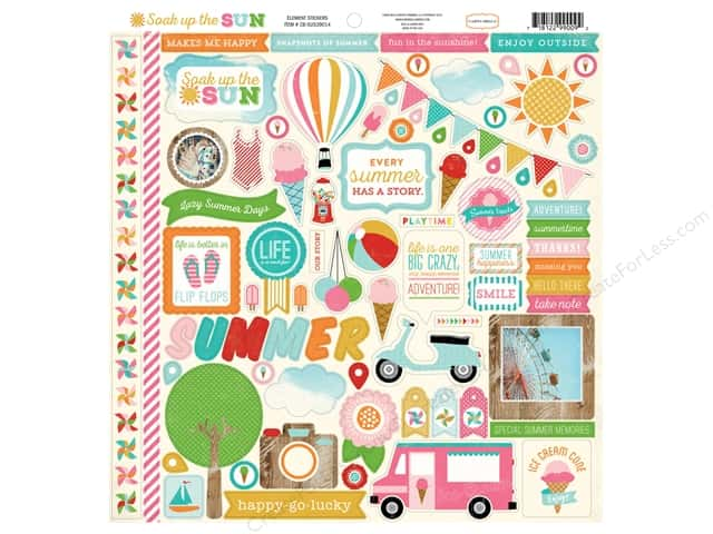 Carta Bella Stickers Soak Up The Sun Elements (15 sets)
