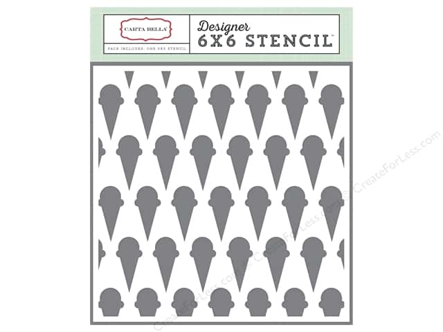 Carta Bella Designer Stencil Soak Up The Sun Ice Cream Cone