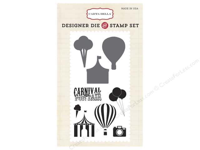 Carta Bella Designer Die and Stamp Set Soak Up The Sun Carnival Fun