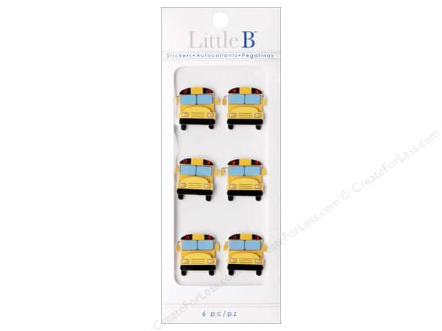 Little B Sticker Mini School Bus