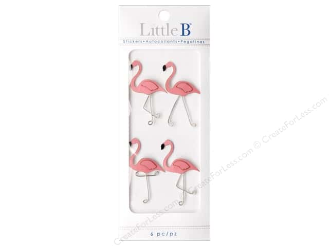 Little B Sticker Mini Flamingo