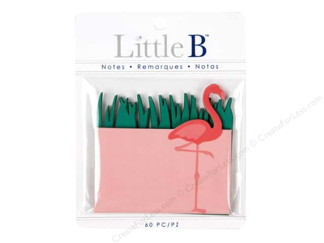 Little B Paper Adhesive Notes Flamingo And Grass