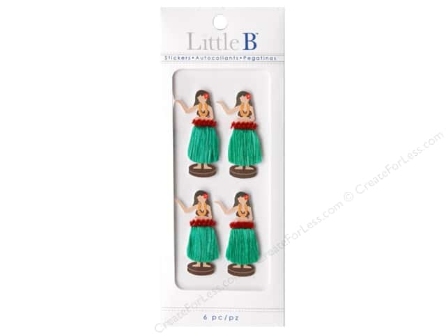 Little B Sticker Mini Hula Girl