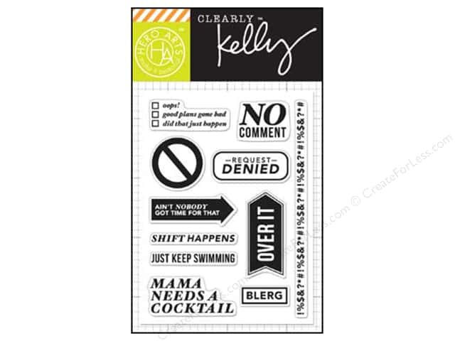 Hero Arts Poly Clear Stamps Kelly's No Comment