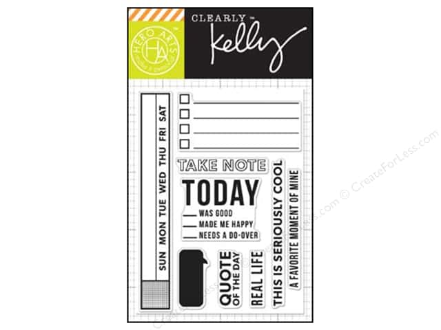 Hero Arts Poly Clear Stamps Kelly's Take Notes