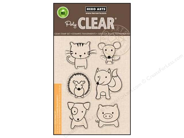 Hero Arts Poly Clear Stamps Playful Animals