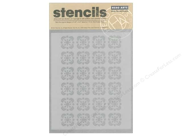 Hero Arts Accessories Clearly Kelly Stencil Floral Tile