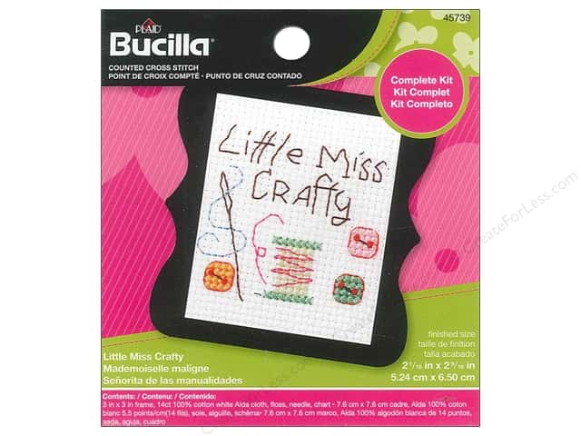 Bucilla Counted Cross Stitch Kit 2 1/2 in. Little Miss Crafty