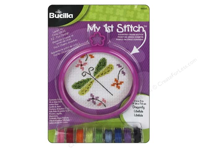 Bucilla Counted Cross Stitch Kit 3 in. My 1st Stitch Dragonfly