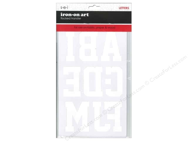 SEI Iron-On Letters Sport Block 2 5/8 in. White