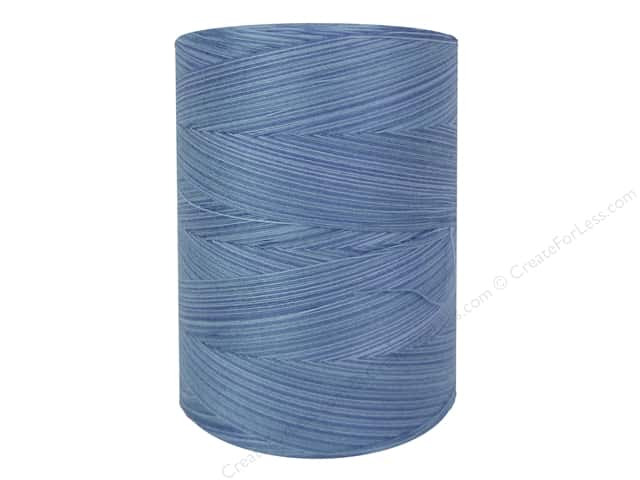 Coats & Clark Star Variegated Mercerized Cotton Quilting Thread 1200 yd. #859 Blue Skies