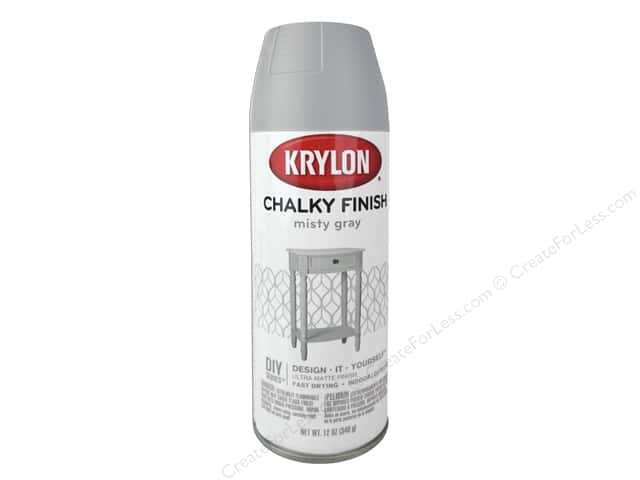 Krylon Chalky Finish Paint 12 oz. Misty Grey