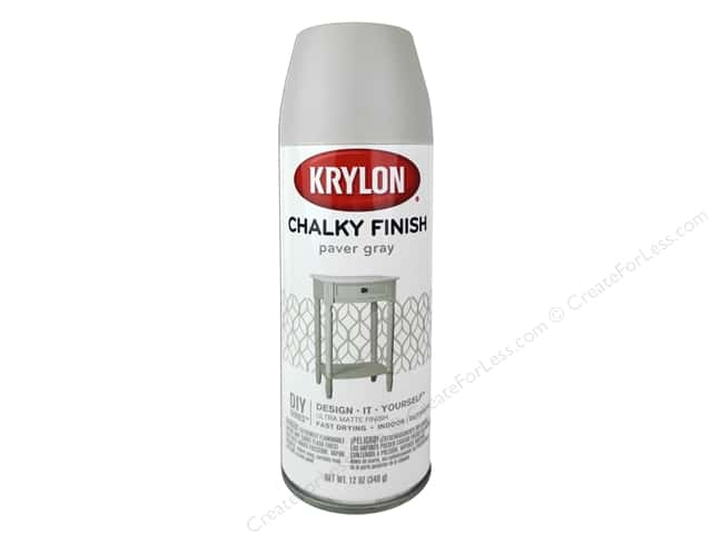 Krylon Chalky Finish Paint 12 oz. Paver Grey